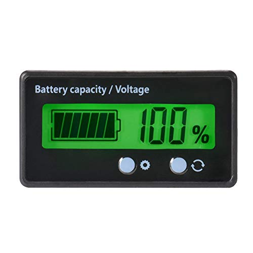 Cosay DC 12V-72V Battery Meter Capacity Voltage Monitor Gauge Tester for RV Marine Boat Motorcycle -