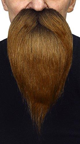 (Mustaches Selbstklebende Neuheit Philosopher Fälscher Bart Falsch Gesichtsbehaarung Kostümzubehör für Erwachsene Braun Farbe)