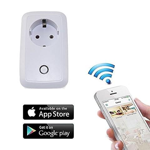 WiFi Smart Socket, Hansemay Smart WIFI Power Socket mit Fernbedienung mit Time Control Home Automation Switch für Tablet und Smartphone (iOS und Android) verbunden