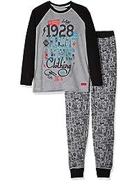 Losan Jungen Pyjama Schlafanzug lang Build the Future marino claro