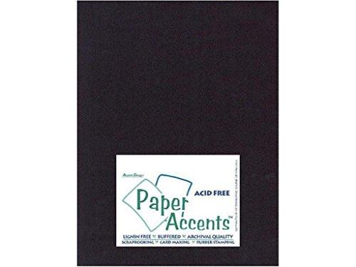 Paper Accents Cardstock (Accent Design Paper Accents ADPTX8511-25.127 Lite Stock 8.5x11 Black Cardstock)
