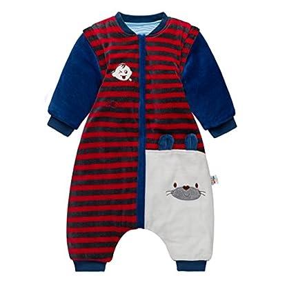 Sacos de Dormir para Bebés 3.5 Tog – Mantas para Niño Mangas Extraíbles Rayas Diseño