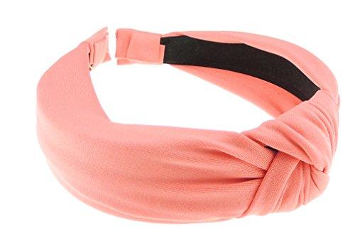 Glamour Girlz Draped Chiffon Twist nodo fascia Alice Band- in 7colori Jersey Coral Taglia unica