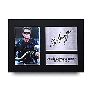 HWC Trading Arnold Schwarzenegger Signed A4 Printed Autograph The Terminator Print Photo Picture Display