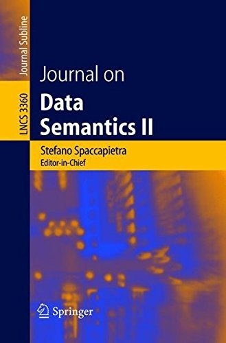 Journal on Data Semantics II: v. 2 (Lecture Notes in Computer Science) by Dennis McLeod (2008-06-13)