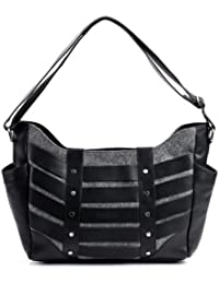 FEYNSINN sac bandoulière femme SARAH - - sac en cuir avec bretelle - sacoche en cuir véritable