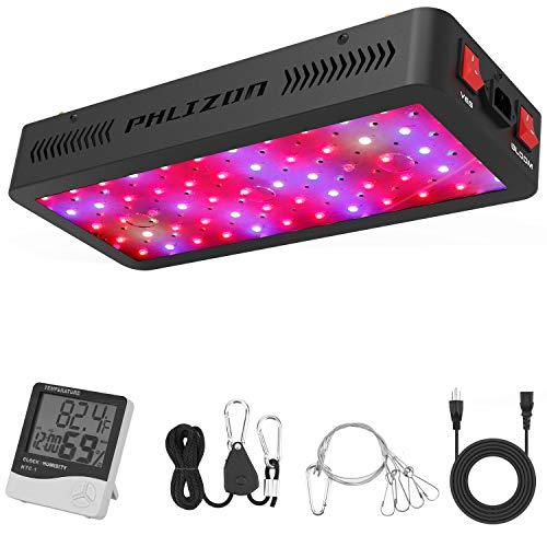 Phlizon Doppelschalter Serie 600W LED Pflanzenlampe Vollspektrum