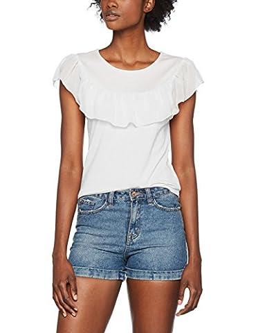 ONLY Damen T-Shirt Onltascha S/L Top Jrs, Weiß (Cloud Dancer Cloud Dancer), 38