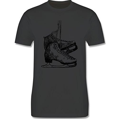 Wintersport - Schlittschuhfahren - Herren Premium T-Shirt Dunkelgrau