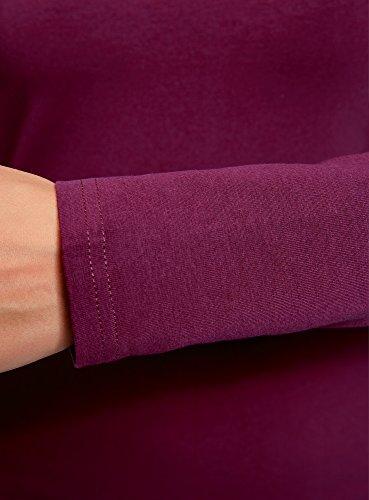 oodji Ultra Damen Enges Jersey-Kleid Violett (8301N)