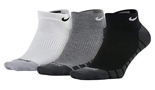 Nike Dry Lightweight No-Show Training Socks (3-Pack)- Gr. S (34-38 EU), schwarz - weiß - grau