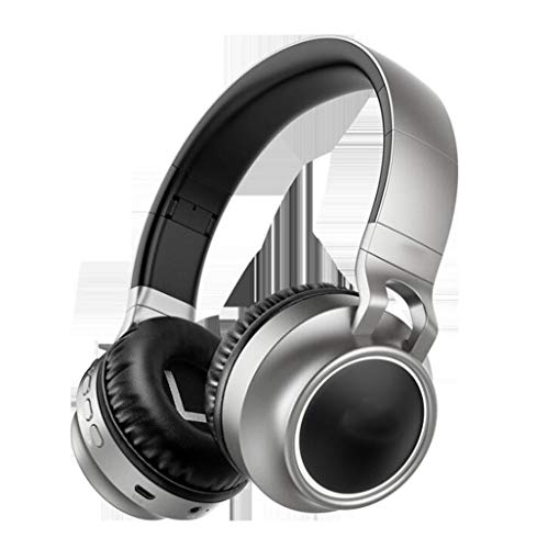Gaming-Headset Leuchtendes Headset Bluetooth-Headset Stereo-Sport-Laufcomputer-Headset LED-Mehrfachlicht, Soft-Memory-Ohrenschützer, for Gaming (Color : Gray)