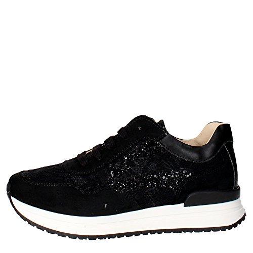 Florens Z6611 Sneakers Bambina Camoscio/tessuto Nero Nero 33