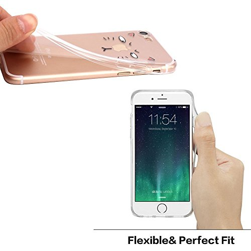 iPhone 6 Case, Walmark Amusing Whimsical Design Clear Bumper TPU Soft Case Rubber Silicone Skin Cover for iPhone 6 4.7 inch inch - Tom Cat