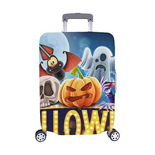(Nur abdecken) Halloween Banner Staubschutz Trolley Protector case Reisegepäck Beschützer Kofferbezug 28,5 X 20,5 Zoll