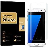 Samsung Galaxy S7 Edge Pellicola Protettiva, URNICE 3D Full Coverage 9H Durezza bordo a bordo vetro temperato, Anti-graffio, Anti-impronte senza bolle (Trasparente)