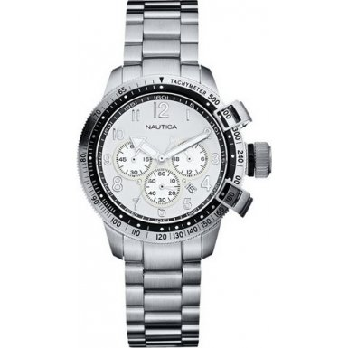 Nautica Ladies Silver Case and Bracelet Chronograph Watch - A32528L