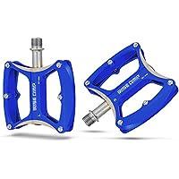 E821 Ultralight Alluminio Pedali della Bici Bicicletta MTB Mountain Bike Pedale-blu - Asse Lato Cuscinetto