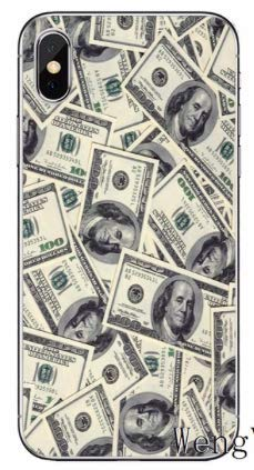 Art Design Hülle für iPhone XS Max Dollars $100 USA Soft Silikon