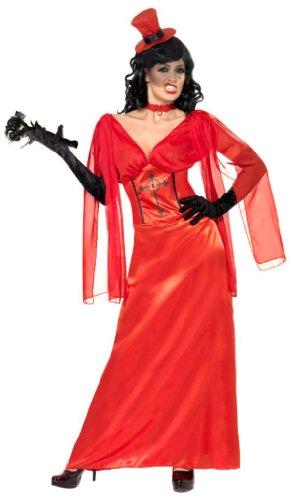 Draculas Drakula Braut Halloween Kostüm Drakulakostüm Gr. 40/42 (M), 44/46 (L), Größe:M