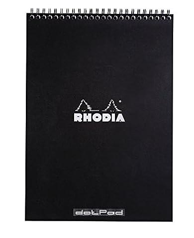 Rhodia A4 Dot Notepad - Black