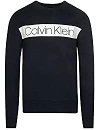 Calvin Klein K10K102773 Cotton Stripe Logo Sweat-Shirt Homme eb7ac341d201