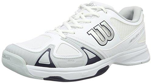 Wilson Rush Evo, Zapatillas tenis Hombre, Blanco White