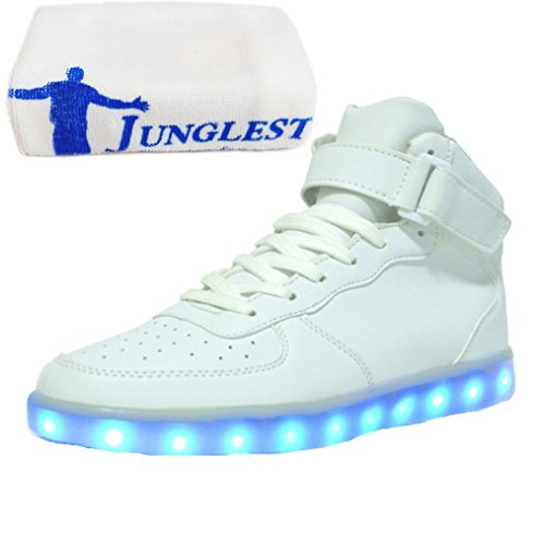 top present Lackleder Sneakers Turnschuhe Usb Schuhe C44 Für kleines junglest® Unisex Herren Handtuch Led Glow Sport Leuchtend Farbe Dam 7 High Aufladen XqttrwaB