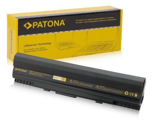 PATONA Laptop Akku für Asus Eee PC 1201 | 1201 | 1201HA | 1201HA | 1201N | 1201N | 1201NL | 1201NL | 1201N-PU17-BK | 1201N-PU17-SL | 1201PN | 1201PN | 1201T | 1201TEPC 1201N | 1201N-SIV047M | PRO23 | UL20 | UL20A | UL20A-A1 - [ Li-ion; 4400mAh; schwarz ]