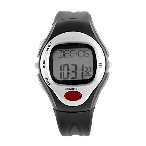 Diferente color Pulso Monitor de ritmo cardíaco Calorías Contador Reloj de fitness Relojes digitales Reloj de calendario Cronómetro Alarma - Blanco