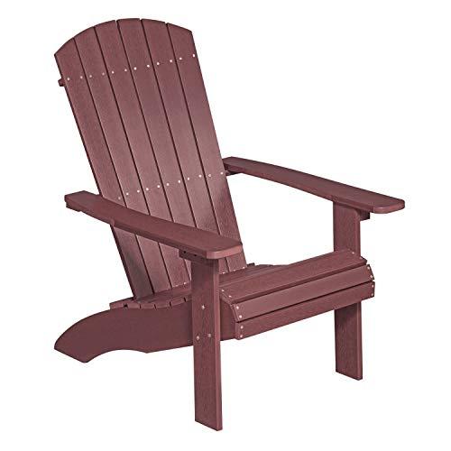 NEG Design Adirondack Stuhl Marcy (rot-braun) Westport-Chair/Sessel aus Polywood-Kunststoff (Holzoptik, wetterfest, UV- und farbbeständig) - Outdoor Rot, Sitzbank