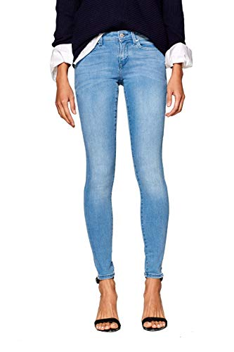 edc by ESPRIT Damen 998CC1B826 Skinny Jeans, Blau (Blue Light Wash 903), W27/L30 (Herstellergröße: 27/30)