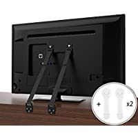 CALISH Anti-Tip TV/Furniture Straps Heavy Duty Strap and Plastic Parts, Long VESA Screws to Fit Latest TVs, with Child Drawer Safety Locks(2 pcs)