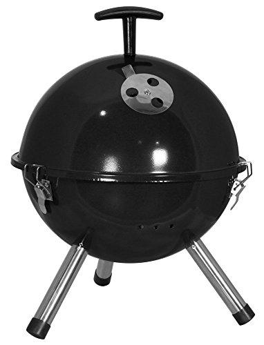 Kugelgrill Holzkohlegrill Mini Grill BBQ Ø 32 cm Schwarz