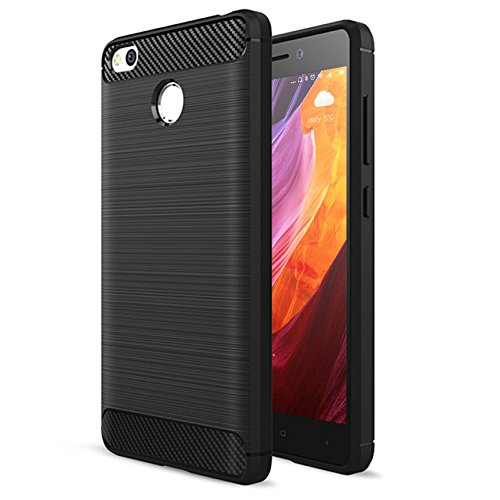 FayTun Hülle für Xiaomi Redmi 4X, Xiaomi Redmi 4X Handyhülle Soft Schutzhülle, Schutz vor Fingerabdruck,Staub und Scratch-Stoßfest FeinMatt TPU Case für Xiaomi Redmi 4X, Schwarz
