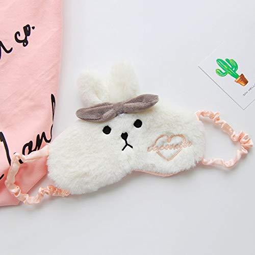 Niedlichen Cartoon Kaninchen Schlafaugenmaske Atmungsaktive Soft Home Eyeshade Kalt Heiße Augen Abdeckung Unisex Augenschutz für Männer Frauen