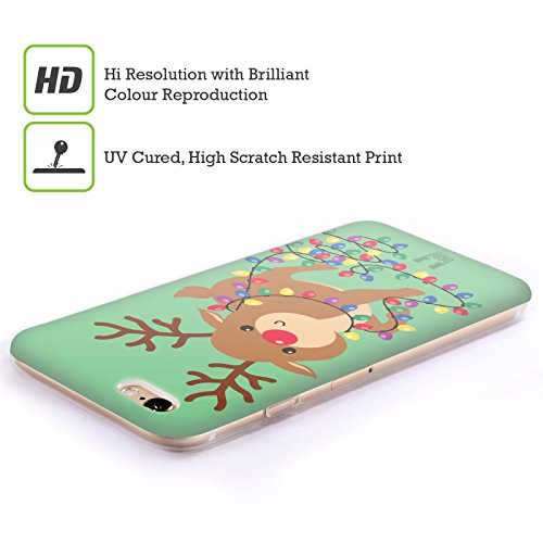 Head Case Designs Angelo Cartoni Di Un Felice Natale Cover Morbida In Gel Per Apple iPhone 6 / 6s Renna