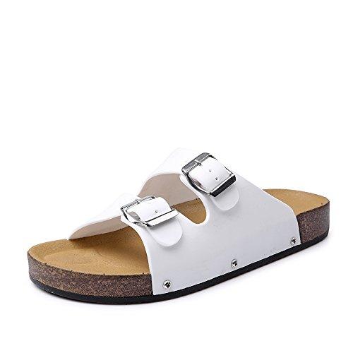 L'été patinage patin à poitrine tongs plage couple chaussons White slippers