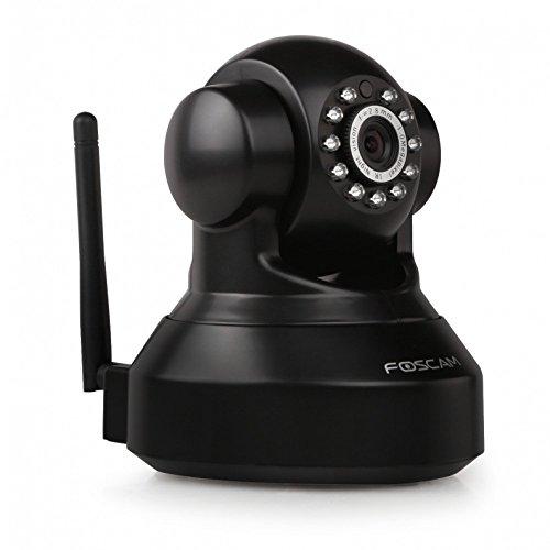 Foscam FI9816P HD Wireless Neig- und Schwenkbare IP WLAN Kamera / Überwachungskamera / Sicherheitskamera mit microSD-Kartenslot, IR Nachtsicht, P2P-Funktion, Bewegungserkennung schwarz (Cam Foscam Ip)