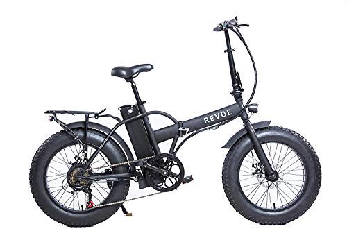 Revoe e-bike Dirt Vtc, Fat Bike Bicicleta Plegable, Negro, 20 '', Shimano Shift, 25 Km / h