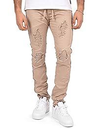 PROJECT X - Jeans Beige Slim Ceinture à Lacet Doublure Biker 2e0b5c24b99