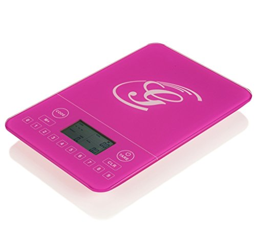 Genius | Kalorienwaage | Nährwert-Analyse | Diät-Waage | Fitness-Waage | Bewusste Ernährung | NEU Farbe Pink