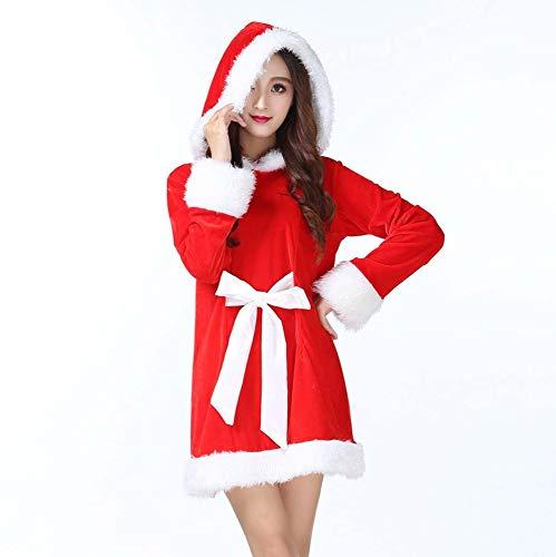 HOQTUM Weihnachtskostüme Erwachsene Frauen Weihnachten Rollenspiele Bühnenkostüme weicher -