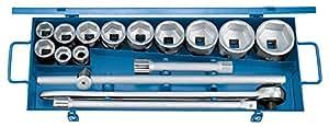 """Gedore D 32 FMU-2 Set de douilles 3/4"""", profil UD, 22-60 mm, 16 pièces (Import Allemagne)"""