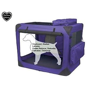Valentina-Valentti-XXL-Dog-Folding-Carrier-Transport-Soft-Crate-Purple-V8