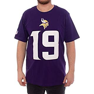 NFL Adam Thielen #19 Minnesota Vikings Name & Number T-Shirt Lila, L