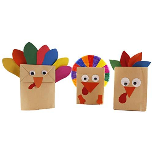 DIY Thanksgiving Truthahn Handwerk Kit für Kinder Thanksgiving Party Favors Geschenk Papiertüten Dekorationen ()
