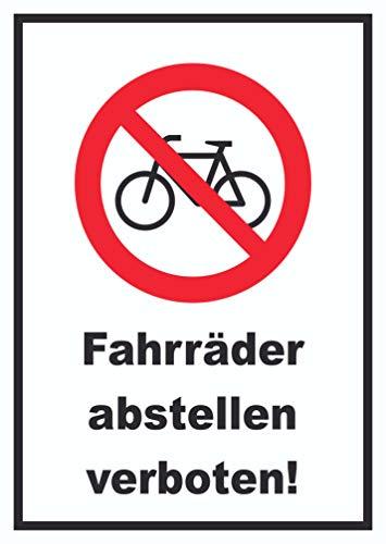 HB-Druck Fahrräder abstellen verboten Schild Keine Räder anschliessen A4 (210x297mm)