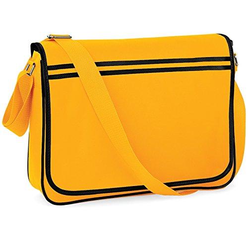 Bagbase Funky Retro messenger bag (4colori) Gold/Black