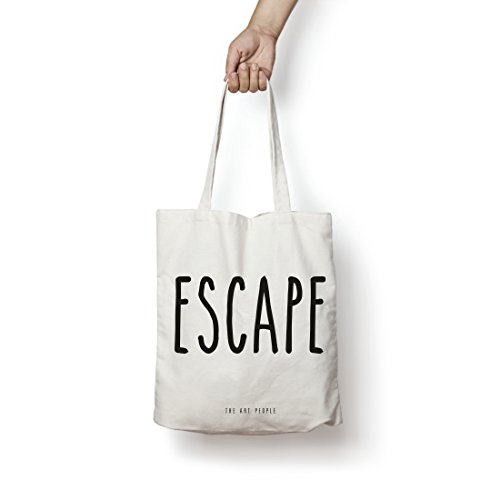 Escape Tote Bag| Canvas| Fashion| Eco Friendly| Shoulder Bag| For Gym Beach Shopping College| The Art People|